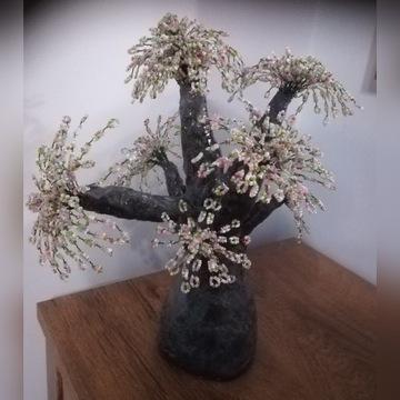 Drzewko szczęścia, prezent, drzewka z koralików