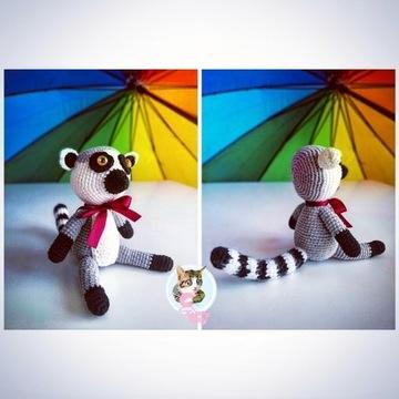Lemur handmade zabawka prezent maskotka