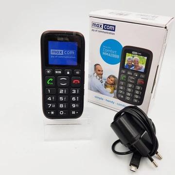 Telefon dla seniora MaxCom MM428BB Gwarancja 20 m.