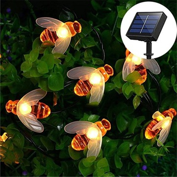 Girlanda LED Solar PSZCZOŁY 5m Ogród/Taras/Balkon