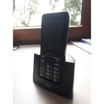 Telefon dla seniora HALO Q MY PHONE czarny Używany