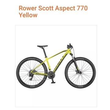 Rower MTB SCOTT ASPECT 770 Yellow M z dodatkami