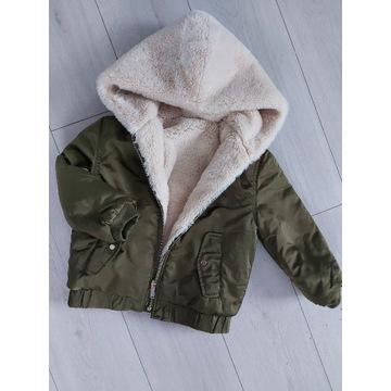 Zara dwustronna kurtka zimowa 116