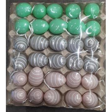Kolorowe jaja dekoracyjne do zawieszenia WIELKANOC