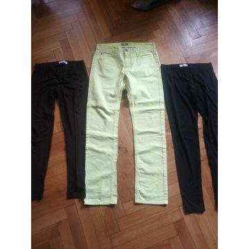 Zestaw 3 par spodni. Żółte slim+ 2pary leginsow