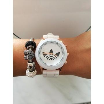 Zegarek silikonowy biały damski NOWY