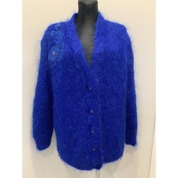 Chabrowy wełniany sweter Handmade