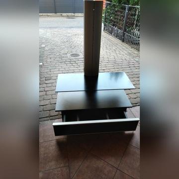stolik szafka pod telewizor TV RTV z półką szklaną