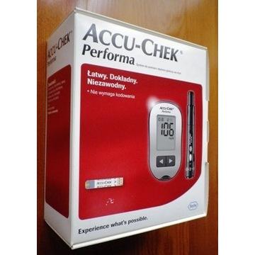 Nowy glukometr ACCU - CHEK Performa + 50pasków