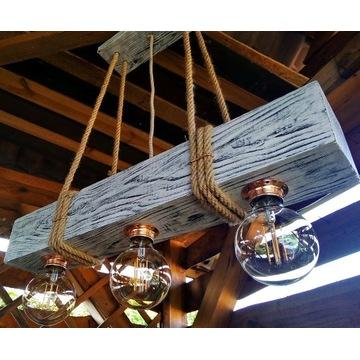 Lampa loft vintage żyrandol belka