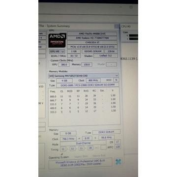 Karta graf Firepro M4000 Dell Alienware Msi Clevo