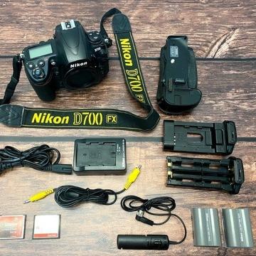 Nikon D700 FX Body, Grip, wężyk, 2bat, 2CF. Zestaw