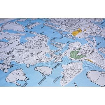 Kreatywny Obrus Mapa świata