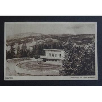 KRYNICA - GÓRA PARKOWA, RESTAURACJA - rok 1950