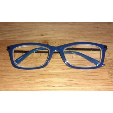 Niebieskie Okulary Korekcyjne +3,5 OKAZJA