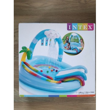 Basen INTEX 57175 plac zabaw z fontanną chmurka