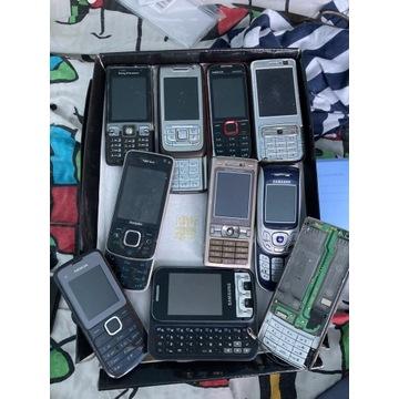 Stara elektronika telefony ładowark słuchawki OPIS
