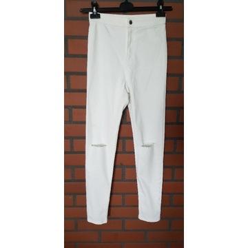 Sinsay białe spodnie wysoki stan NOWE 38