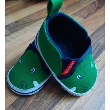 Buciki niemowlęce SOXO zielone krokodyle - 13-15