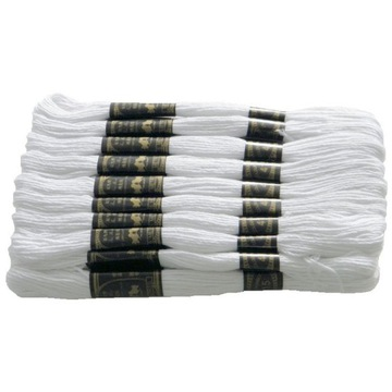 MULINA biała zestaw 24 sztuki nici DO HAFTU