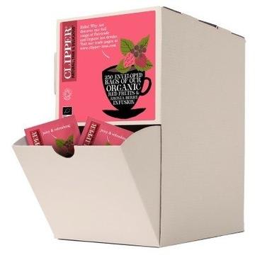 Clipper Organic Czerwone Owoce Herbata 250 szt