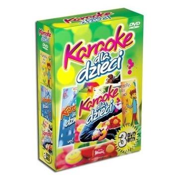 Karaoke dla dzieci 3dvd box nowy folia