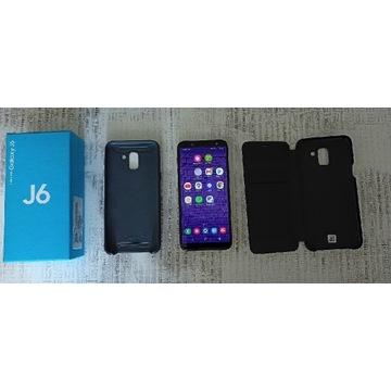 Jak nowy Galaxy J6 2018, 2x etui, zapraszam!!