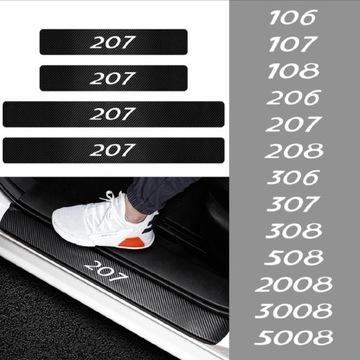 Naklejki karbon Peugeot 307