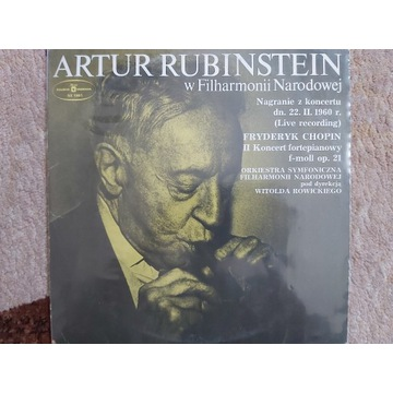 CHOPIN - II KONCERT F-MOLL RUBINSTEIN LP