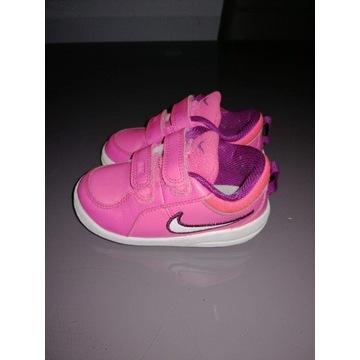 Różowe buciki nike