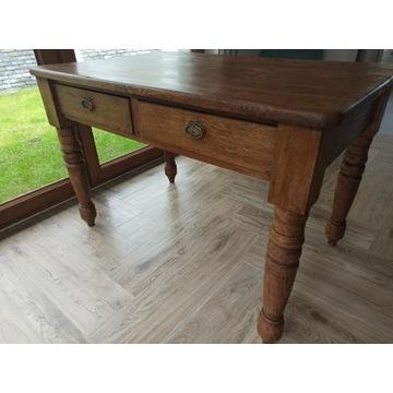 Stół drewniany lite drewno antyk nogi toczone