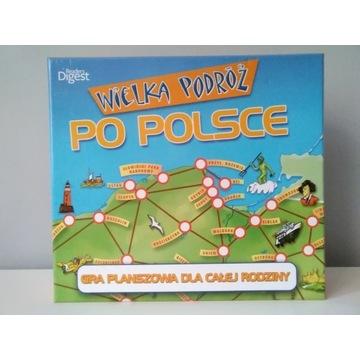 Gra logiczna planszówka Wielka Podróż po Polsce.