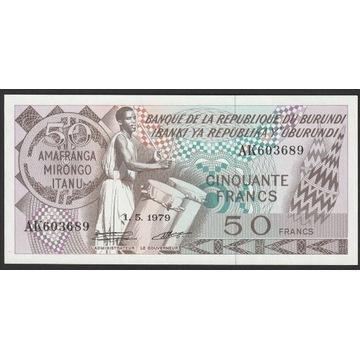 Burundi 50 franków 1979 - stan bankowy UNC