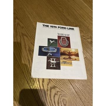 THE 1974 FORD LINE stary prospekt