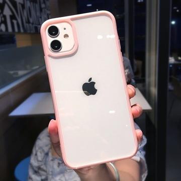 Przezroczyste Etui(Różowy) -iPhone 12pro-HIT!!!