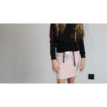 Bawełniana spódniczka różowa, roz. 140