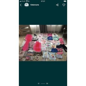 Mega paka dla dziewczynki 104 110 sukienka kurtka
