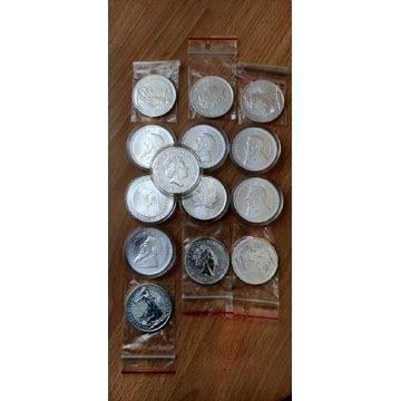 Srebrne monety bulionowe stan menniczy