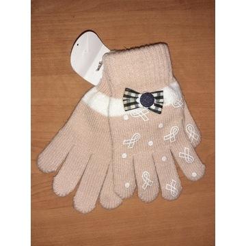 Nowe rękawiczki dziecięce 17cm dla dziewczynki 8l