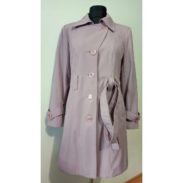 Płaszcz kurtka lawendowy M-L