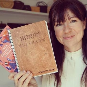 Notes drewniany 365 dobrych uczynków