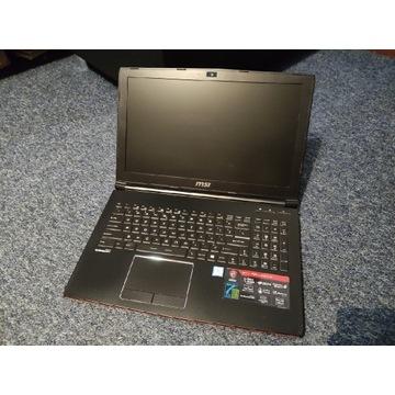 Laptop MSI GP62 I7/8GB/SSD/DVD/HDMI/WIN10/BAT 3.5H