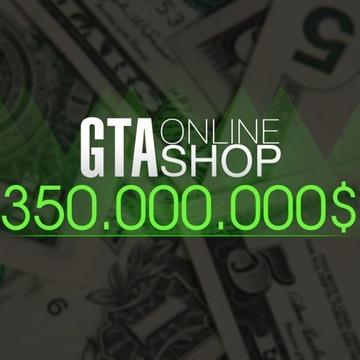 GTA 5 ONLINE    350 000 000  doładowanie LVL RP