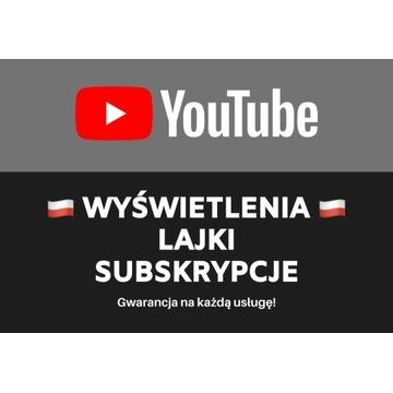 YouTube: Wyświetlenia Like Lajki Subskrypcje z PL!