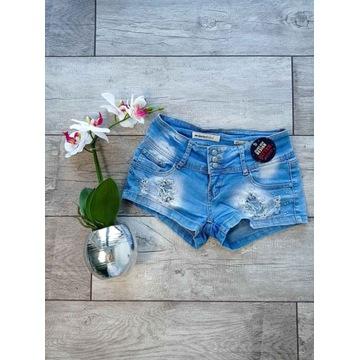 Spodenki krótie Dżinsowe Jeansowe XS 34 S 36