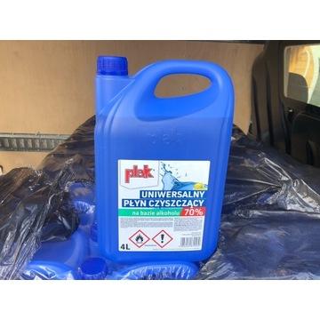 Płyn do czyszczenia PLAK 70%alk. 4litry