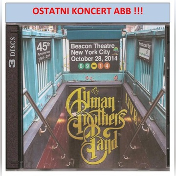 ALLMAN BROTHERS BAND-BEACON THEATRE 28.10.2014-3CD