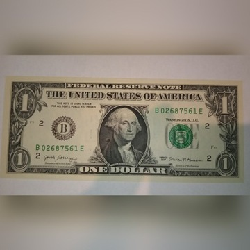 1 Dolar Amerykański UNC New York