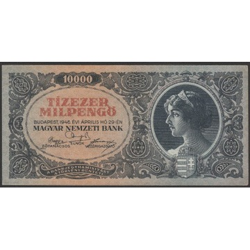Węgry 10 000 pengo 1946 - seria A097