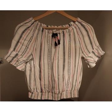 Bluzka w stylu hiszpańskim H&M 158cm krótka.